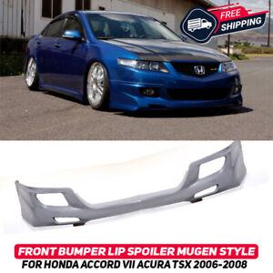 Front Bumper Lip Spoiler Splitter For Honda Accord 7 Acura TSX 06-08 Mugen Style