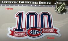 Official NHL Montreal Canadiens 100 Seasons Collectible 100th Anniversary Patch