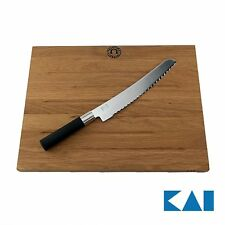 Kai Wasabi Black Geschenkset Brotmesser/Küchenmesser +original KAI Schneidebrett