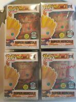 Funko POP #818 Dragon Ball Super Saiyan Hercule GITD SIGNED JSA Chris Rager