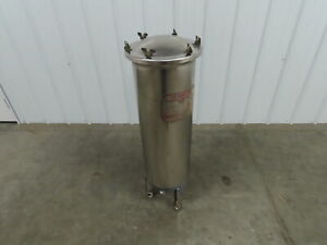 """Harmsco Ultrasorb PCF-7 Up-Flow Stainless 7-Cartridge Filter Housing  11""""x40"""""""