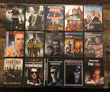 FREE SHIPPING! Lot Collection of 15 DVD Movies starring ARNOLD SCHWARZENEGGER