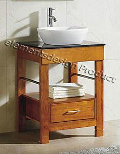 "24"" Bathroom Vanity 24-inch Cabinet Black Top Vessel Sink Faucet Cinnamon  CG"