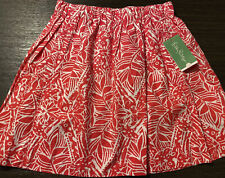 NEW Lilly Pulitzer Cissy Skirt Punch Pink Stamped Palm Leaves Size XS MSRP $98