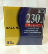 "LOT OF 5 SONY 3.5"" 230MB RW EDM230CMF MAC FORMATTED OPTICAL DISKS"