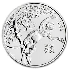 2016 Great Britain Year Of The Monkey 1 oz .999 Silver Royal British Mint Coin