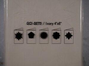 """10 6 x 4"""" Embossed Window Aperture Blank Greetings Cards IVORY SET5"""