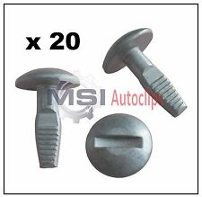 20 x PEUGEOT ENGINE UNDERTRAY COVER FIXING CLIPS PROTECTION SCREW OEM 7030.16
