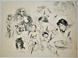 "RAPHAEL SOYER Nude Studies ORIGINAL Pencil SIGNED Ltd Edition AAA Litho ""13/50"""