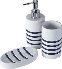 Ceramic Striped Bath Accessory Sets