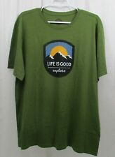 Life Is Good Smooth S/s T-shirt Men's Large Explore The Mountains Tree Green