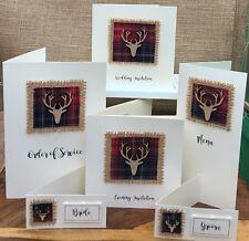 10 x Winter Stag Tartan Rustic Wedding Invitations Stationery