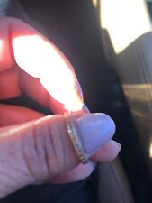 14 k gold ring pre owned Roze Color With Dimond