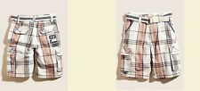 GUESS KIDS TARRIF PLAID BELTED MULTICOLOR SHORTS Sz. 12