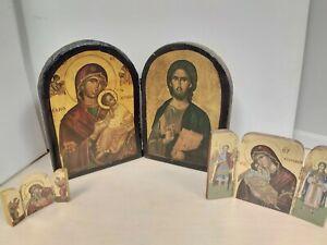 3 Roman Catholic Art Pictures Jesus Christ Virgin Mary B56