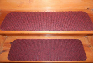 """9"""" x 30""""100% Flexible Vinyl In/Outdoor Stair Treads Peel & Stick Red Choice Step"""