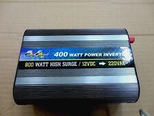 400 Watt Power Inverter, 12V DC - 220/240V AC in 50Hz, 800 Watt High Surge
