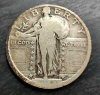 1918-S Standing Liberty Silver Quarter Very Good VG or Fine F