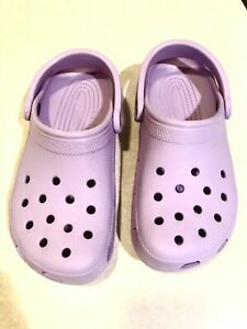NEW! Women's Crocs Lavender The Classic Slip On Mule Size 7