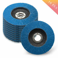 4.5'' 115mm Flap Sanding Discs Grinding Wheels 40 60 80 120 Grit Angle Grinder
