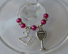 21st Party charm - birthday gift / wine glass charms