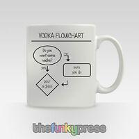 Vodka Flow Chart Mug Cup Tea Coffee Novelty Funny Slogan Gift