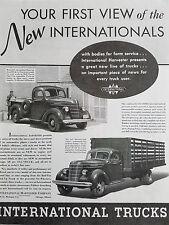 1937 International Trucks Farm Pickup and Stock Hauling Truck Original Ad