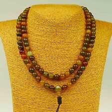 Mala Moss Agate Agate Size (8mm) Necklace Gemstone Guru Stupa NEPAL BUDDHISM 5B