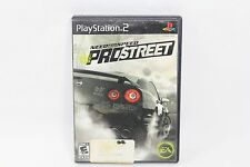 Need For Speed Pro Street PS2 Playstation 2 Sony Game Black Label Complete