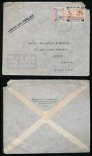 BRITISH EGYPT 1942 WW2 AIRMAIL BOXALL CO GUM ARABIC PRINTED ENVELOPE KHARTOUM