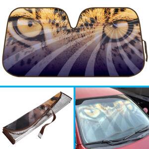 Leopard Eye Auto Sun Shade Front Windshield Car Truck SUV Window Cover UV Block