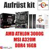 PC Bundle Kit Set ❤ AMD Athlon 3000G mit Grafik ✔ MSI A320M ✔ DDR4 16GB ✔