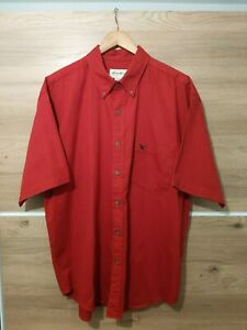 Vintage Men's EDDIE BAUER Size UK XXL Red Shirt Excellent Condition
