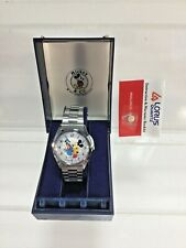 1986 Lorus Mickey Mouse & Donald Duck Disney Character Watch RB2239 New tnw90