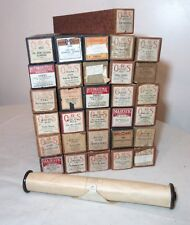 assorted lot of 31 antique player piano scroll music rolls