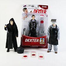 """DEXTER  Action Figure Lot WORK JUMPSUIT / DARK DEFENDER  BIF BANG POW 6"""" - 7"""""""