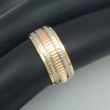 14K TRI COLOR GOLD WEDDING BAND RING