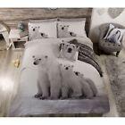 Oso Polar Familia Funda nórdica de cama NUEVO invierno ropa estampado animal