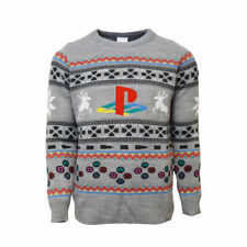 Playstation Officiel Classic Console Boutons symboles Noël Pull/Pull