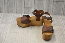 Kelsi Dagger Brooklyn Wen Leather Platform Wedge Sandals, Women's 8.5M Brown NEW