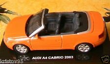 AUDI A4 CABRIOLET 2003 ORANGE 1/43 NEW BOITE SPORT RACE DEAGOSTINI ROADSTER