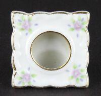 Vintage Japan Tiny Porcelain Picture Frame Pink Floral Roses White & Gold tones