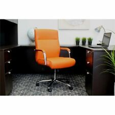 Boss Mid Century Mod Executive Conference Chair In Orange