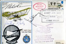 WW2 RAF, Luftwaffe & American ace fighter pilots multi signed cover