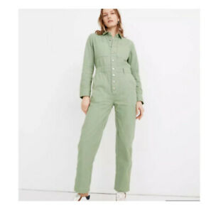 Madewell Women's Garment-Dyed Relaxed Coverall Jumpsuit xxs, nwt