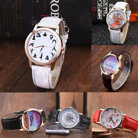 Casual Women Animal Stainless Steel Leather Watch Analog Quartz Wrist Watches