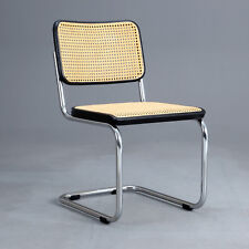Thonet S32 Freischwinger - Bauhaus Klassiker Stuhl Schwarz - Breuer Chair Patina
