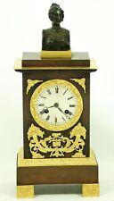 HOCHFEINE EMPIRE BRONZE UHR MIT DIANA BÜST um 1840.