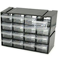 Cassettiera componibile per PORTA MINIATURE COMPONENTI ELETTRONICI 16 cassetti