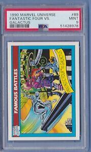 1990 Marvel Universe #89 Fantastic Four vs. Galactus PSA 9 Mint series 1